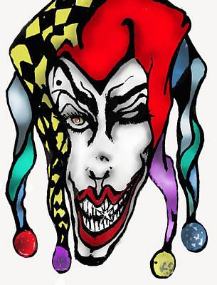 1 Nasty Jester Art Print by Tiffany Selig