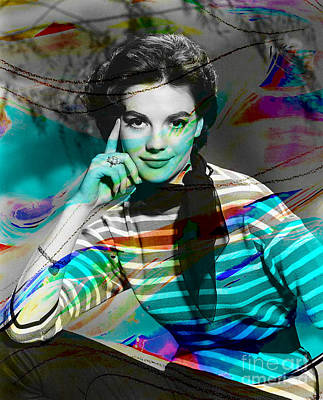 Mixed Media - Natalie Wood by Marvin Blaine