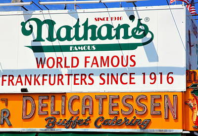 Nathan's Sign Art Print by Valentino Visentini