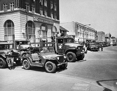Reagan Photograph - National Guard In Berkeley by Underwood Archives Thornton