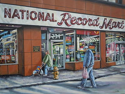 Painting - National Record Mart by James Guentner