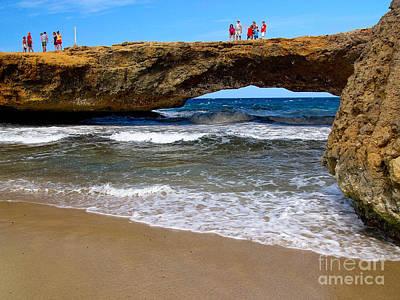 Stone Bridge Photograph - Natural Bridge Aruba by Amy Cicconi
