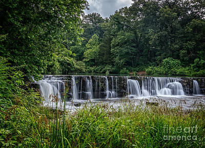 Natural Dam   Art Print by Larry McMahon