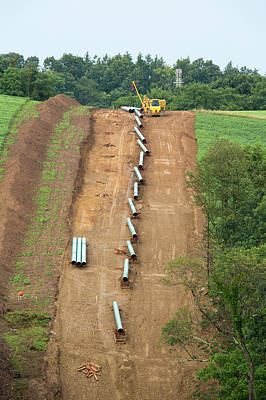 Natural Gas Photograph - Natural Gas Pipeline Construction by Jim West