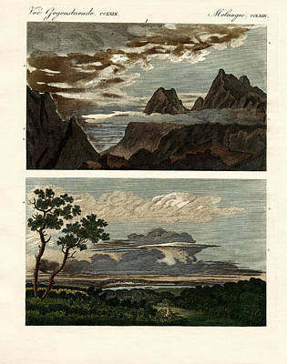 Natural History Of The Clouds Art Print by Splendid Art Prints