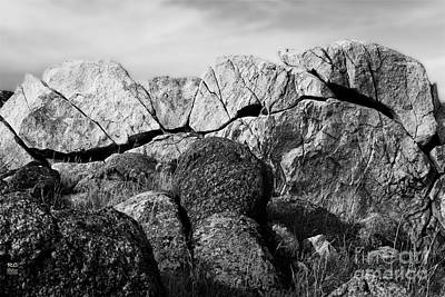 Photograph - Natural Rock Wall  by Rich Collins