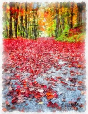 Painting - Nature's Red Carpet by Edward Fielding