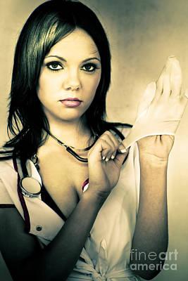 Naughty Nurse Print by Jorgo Photography - Wall Art Gallery