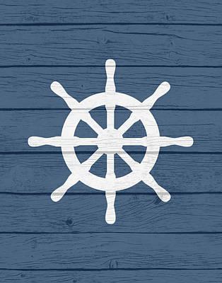 Nautical Wheel Print by Tamara Robinson
