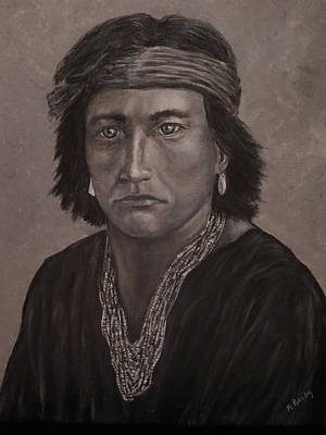 Navajo Boy Native American Art Print