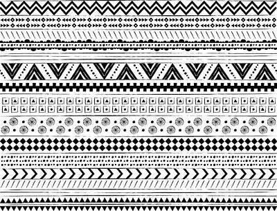 Navajo Surf Repeat Print Art Print by Susan Claire