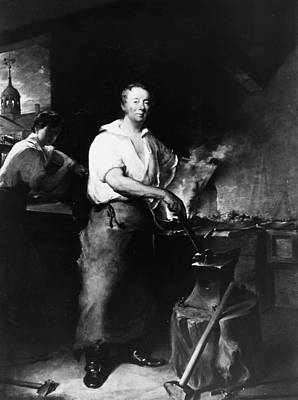 Anvil Painting - Neagle Blacksmith, 1829 by Granger