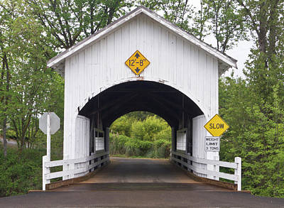 Neal Photograph - Neal Lane Covered Bridge, Jacksonville by William Sutton