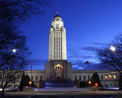 Photograph - Nebraska State Capital by Andrea Kelley