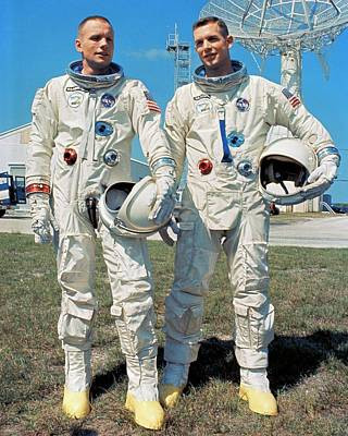 Control Center Photograph - Neil Armstrong And David R. Scott In 1966 by Nasa