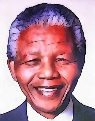 Nelson Mandela Art Print by Dan Sproul