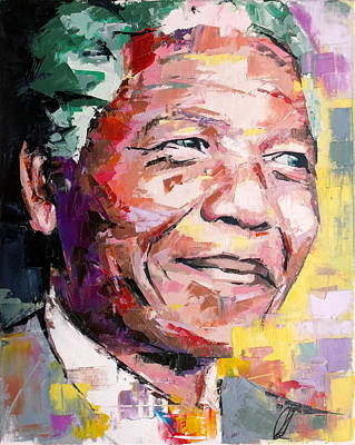 Legend Painting - Nelson Mandela by Richard Day