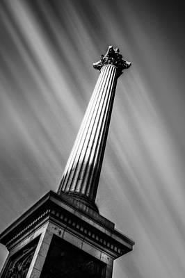 London Skyline Photograph - Nelsons Column London by Ian Hufton