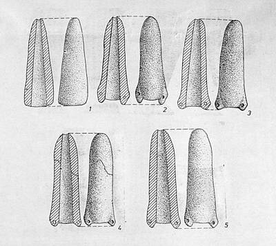 Photograph - Neolithic Phallus Figures by Granger