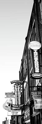 Nashville Sign Photograph - Neon Signs At Dusk, Nashville by Panoramic Images