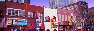 Downtown Nashville Photograph - Neon Signs On Buildings, Nashville by Panoramic Images