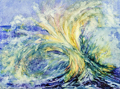 Wall Art - Painting - Neptune's Gold  by Beverly Berwick