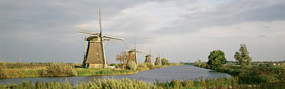 Netherlands, Holland, Windmills Art Print by Panoramic Images