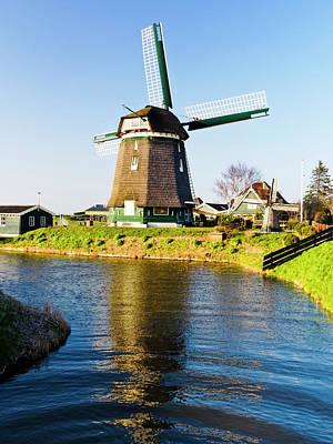 Netherlands, Nord Holland, Windmill Art Print