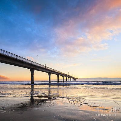 Canterbury Wall Art - Photograph - New Brighton Pier Christchurch New Zealand by Colin and Linda McKie