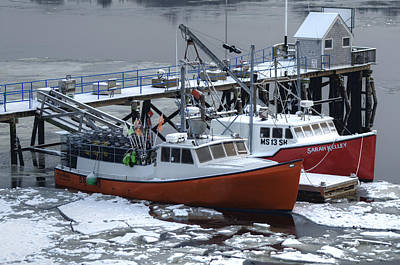 Photograph - New England Boats In Winter by Rick Mosher