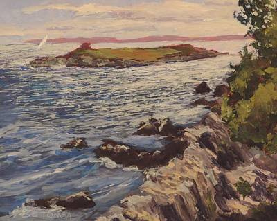 Windblown Painting - New England Coast by Bill Tomsa