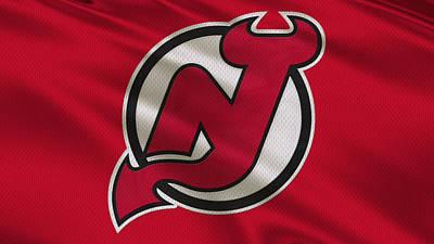 New Jersey Devils Uniform Art Print