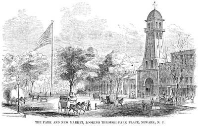 Park Scene Painting - New Jersey Newark, 1855 by Granger
