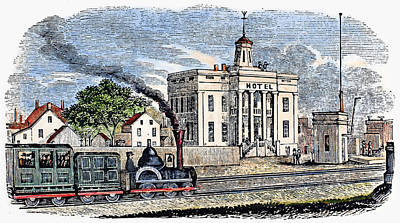 Art Print featuring the painting New Jersey Rahway, 1844 by Granger