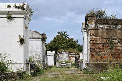 Headstone Photograph - New Orleans Lafayette Cemetery by Christine Till
