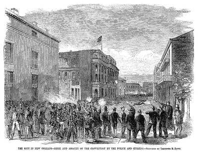 Constitutional Convention Painting - New Orleans Riot, 1866 by Granger