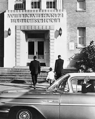 Entryway Photograph - New Orleans School Integration by Underwood Archives