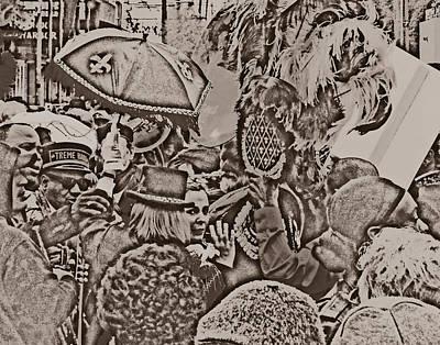 Sousaphone Wall Art - Photograph - New Orleans Second Line by Louis Maistros