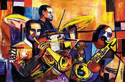 New Orleans Trio Original by Everett Spruill