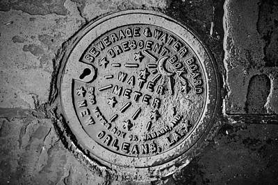 Photograph - New Orleans Water Meter by Chris Moore