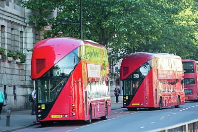 Bus Photograph - New Routemaster Bus by Ashley Cooper