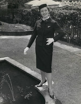 Archives Photograph - New Uniforms For B. E. A. Air Stewardesses And Traffic Girls - On Show. by Retro Images Archive