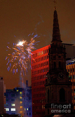 Photograph - New Year 2012 Fireworks London by Deborah Smolinske