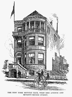 Northeast Drawing - New York Bicycle Club by Granger