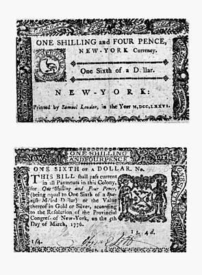 New York Bill, 1776 Art Print