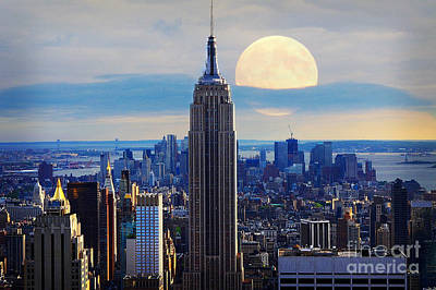 City Scenes Mixed Media - New York City by Celestial Images