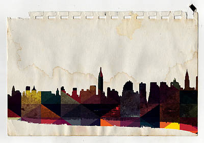 Skylines Royalty-Free and Rights-Managed Images - New York City Skyline by Celestial Images