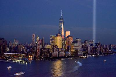 Photograph - New York City Tribute In Lights World Trade Center Wtc Manhattan Nyc by Jon Holiday