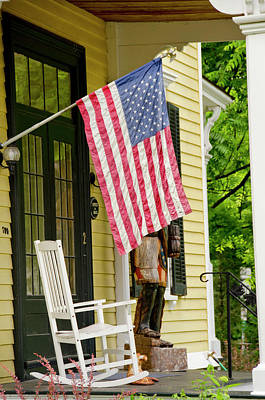 Rocking Chairs Photograph - New York, Cooperstown by Cindy Miller Hopkins