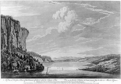 Hudson River Drawing - New York Hudson River by Granger